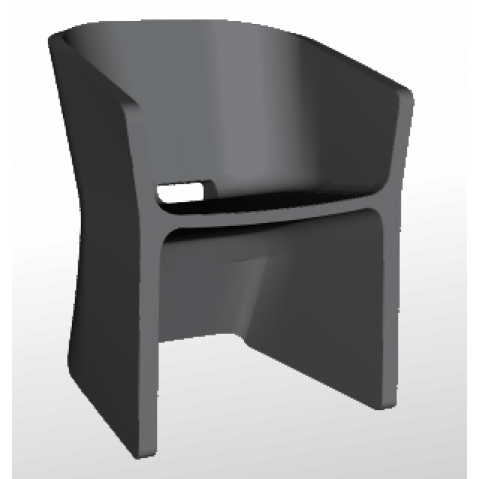 Chaise SLICED CHAIR Qui est Paul Gris Anthracite