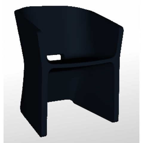Chaise SLICED CHAIR Qui est Paul Noir