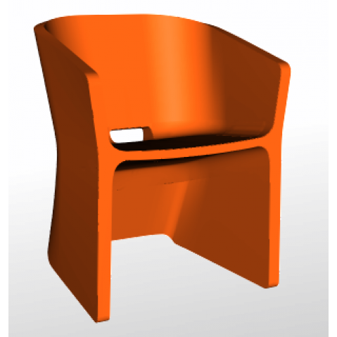 Chaise SLICED CHAIR Qui est Paul Orange
