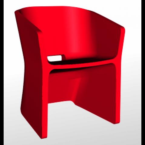 Chaise SLICED CHAIR Qui est Paul Rouge