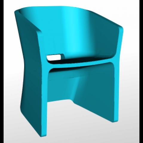 Chaise SLICED CHAIR Qui est Paul Turquoise