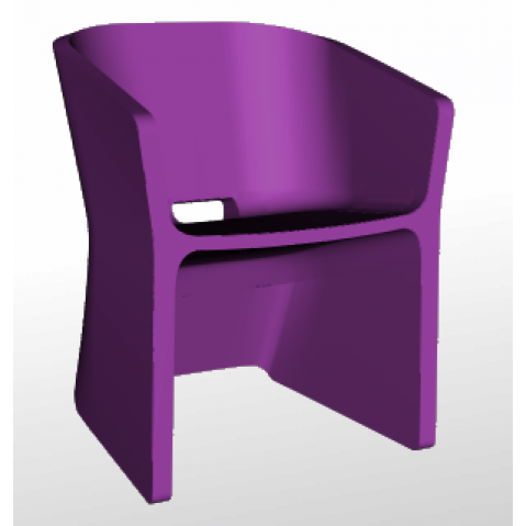 Chaise SLICED CHAIR Qui est Paul Violet