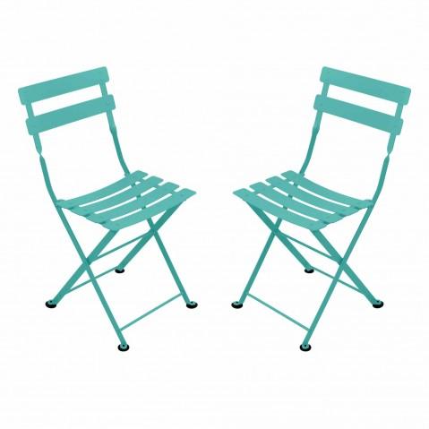 Chaise TOM POUCE de Fermob, Bleu lagune