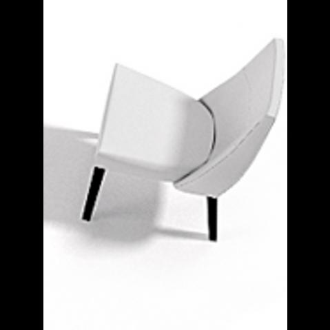 Chaise VAN GOGH 50x64x89 de Joli, Blanc