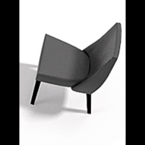 Chaise VAN GOGH 50x64x89 de Joli, Noir