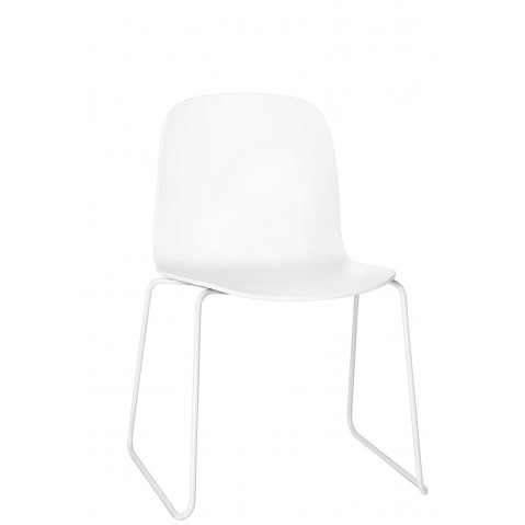 Chaise VISU de Muuto, Sled base, Blanc