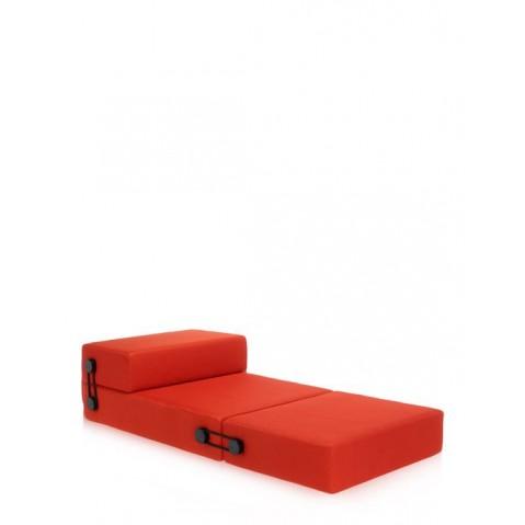 Chauffeuse/pouf TRIX de Kartell, Orange