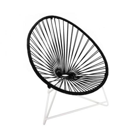 fauteuil acapulco enfant de boqa avec structure blanche noir d 39 aniline. Black Bedroom Furniture Sets. Home Design Ideas
