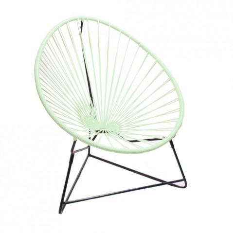 fauteuil acapulco enfant de boqa avec structure noire. Black Bedroom Furniture Sets. Home Design Ideas