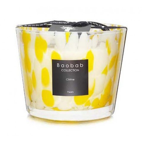 Bougie Citrine PEARLS de Baobab Collection, 5 tailles