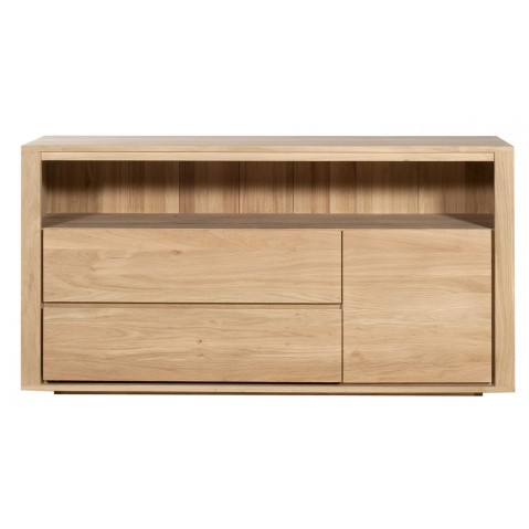 Commode OAK SHADOW d'Ethnicraft , 1 porte / 2 tiroirs