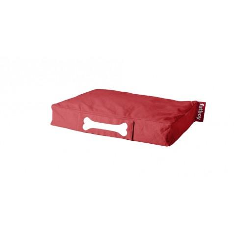 Coussin pour chien DOGGIELOUNGE STONEWASHED de Fatboy petit modèle, rouge