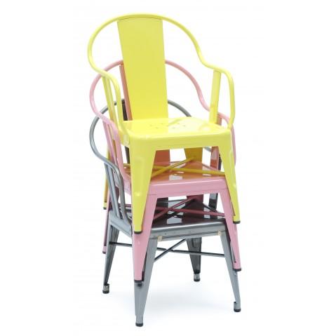 Fauteuil MOUETTE de Tolix pour enfants, 3 coloris