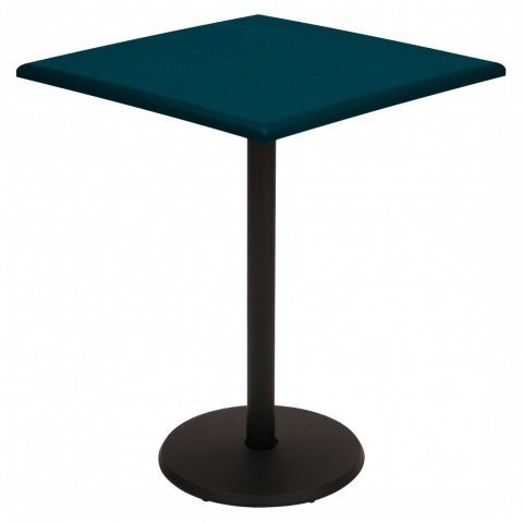 Guéridon carré CONCORDE de Fermob 57 x 57 cm, bleu acapulco