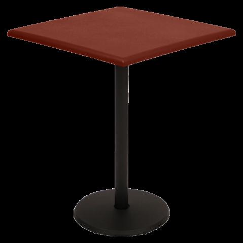 Guéridon carré CONCORDE de Fermob 57 x 57 cm, ocre rouge