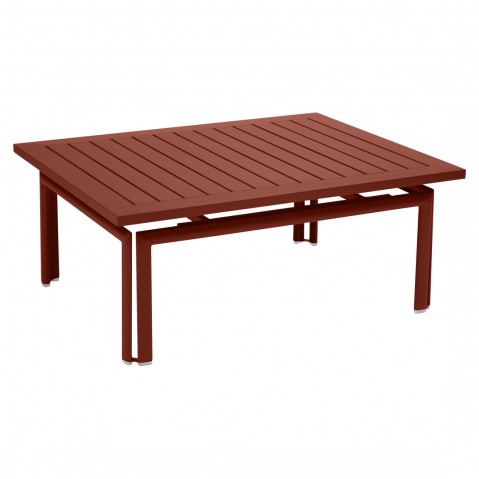 Table basse COSTA de Fermob, ocre rouge