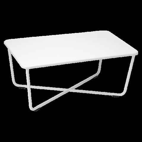 table basse croisette de fermob blanc coton. Black Bedroom Furniture Sets. Home Design Ideas