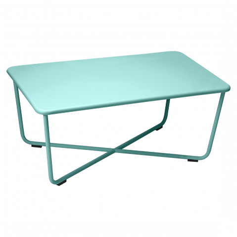 Table basse CROISETTE de Fermob, Bleu lagune