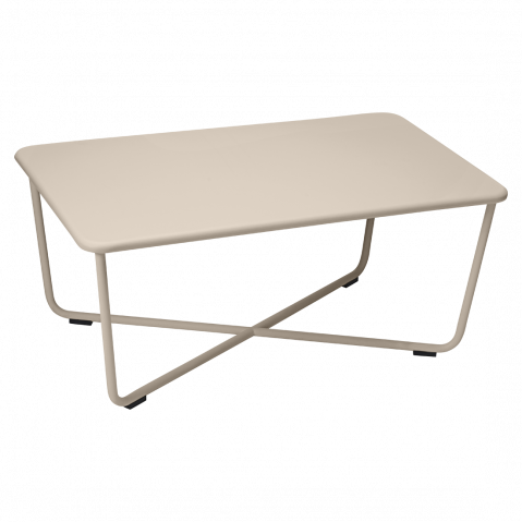 Table basse croisette de fermob muscade for Table basse fermob