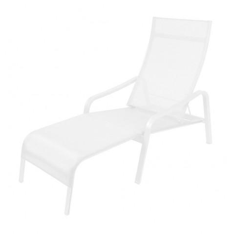 Deck chair ALIZÉ réglable de Fermob blanc coton