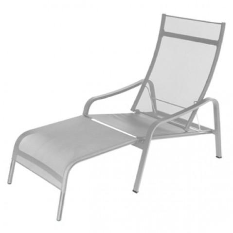 Deck chair ALIZÉ réglable de Fermob gris métal