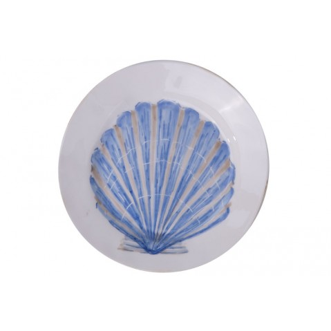 Di Mare Assiette Shell de Flamant, Bleu