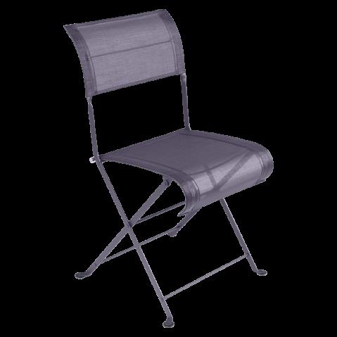 Chaise pliante DUNE de Fermob, Prune