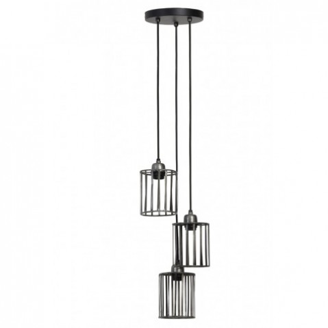 suspension dynthe 3 lampes en zinc. Black Bedroom Furniture Sets. Home Design Ideas