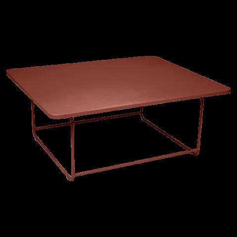 Table basse ELLIPSE de Fermob, ocre rouge