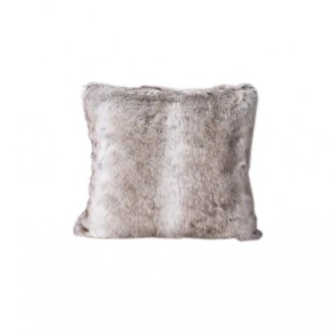 coussin en fausse fourrure lapin de harmony loup. Black Bedroom Furniture Sets. Home Design Ideas