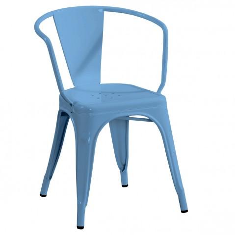 Fauteuil A56 de Tolix bleu