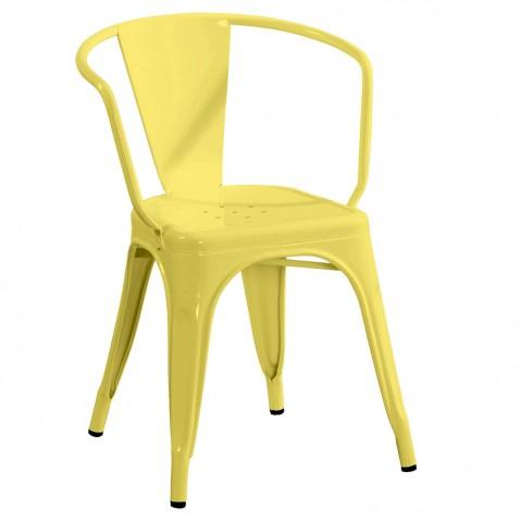 Fauteuil A56 de Tolix jaune