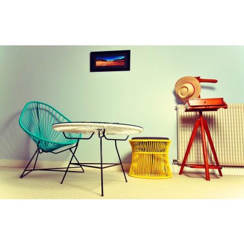 fauteuil acapulco de boqa avec structure noire jaune imp rial. Black Bedroom Furniture Sets. Home Design Ideas