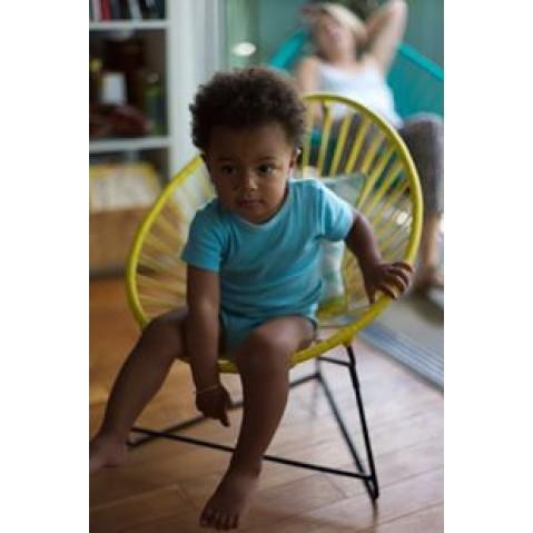 fauteuil acapulco enfant de boqa avec structure noire bleu nuit. Black Bedroom Furniture Sets. Home Design Ideas