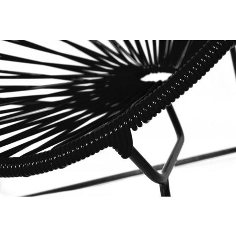 fauteuil acapulco enfant de boqa avec structure noire noir d 39 aniline. Black Bedroom Furniture Sets. Home Design Ideas