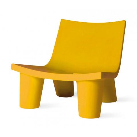 Fauteuil bas LOW LITA de Slide jaune