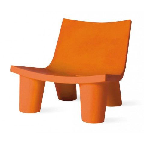 Fauteuil bas LOW LITA de Slide orange