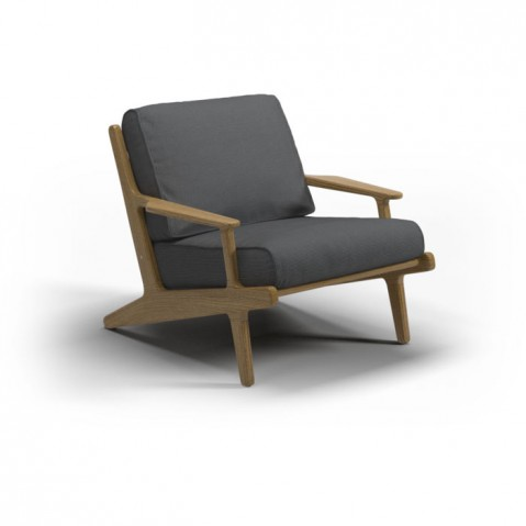 Fauteuil BAY de Gloster, Anthracite