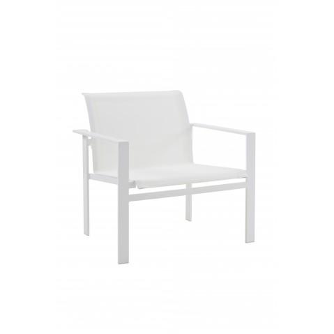 Fauteuil de salon KWADRA de Sifas, blanc