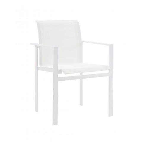 Fauteuil de table KWADRA de Sifas, blanc