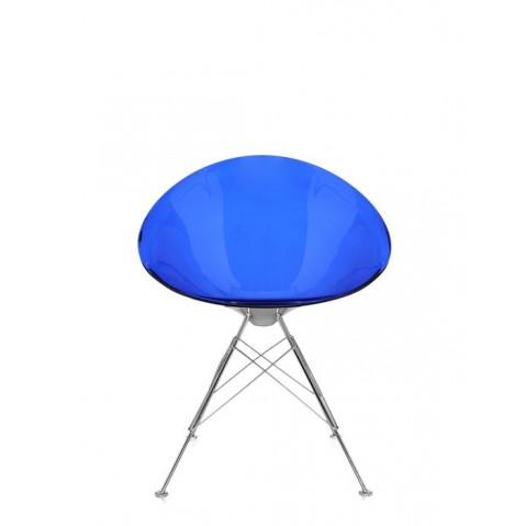 Fauteuil ERO/S de Kartell, Bleu cobalt