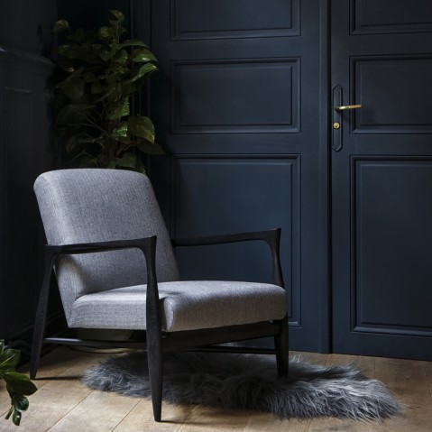 fauteuil floating noir mat de red edition tissu wow motifs. Black Bedroom Furniture Sets. Home Design Ideas
