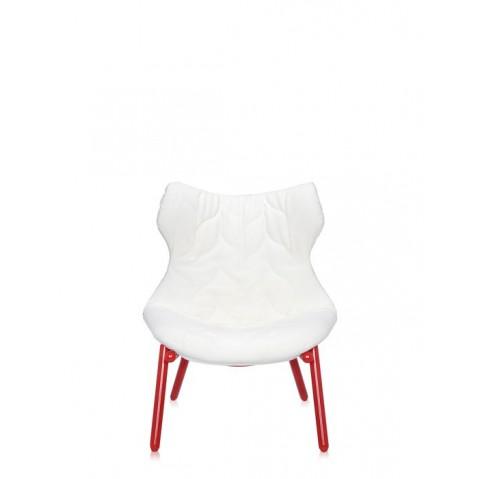 Fauteuil FOLIAGE de Kartell, Blanc, Structure rouge