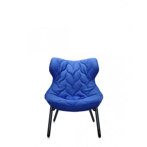 Fauteuil FOLIAGE de Kartell, Bleu, Structure noir