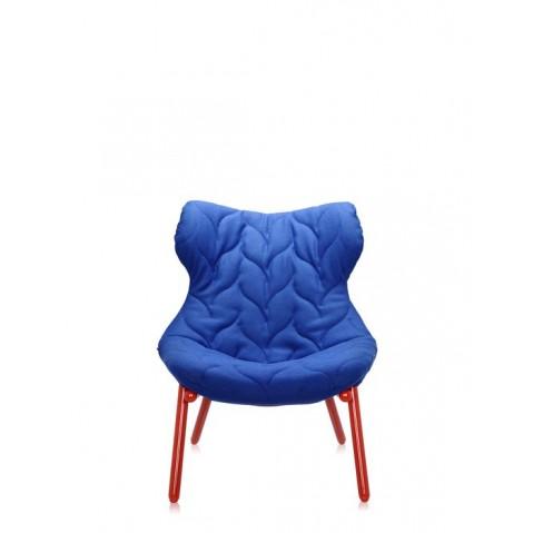 Fauteuil FOLIAGE de Kartell, Bleu, Structure rouge