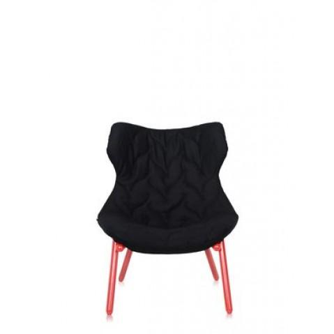 Fauteuil FOLIAGE de Kartell, Noir, Structure rouge
