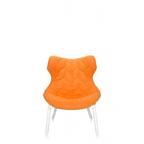 Fauteuil FOLIAGE de Kartell, orange, Structure Blanc