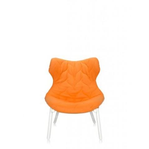 Fauteuil FOLIAGE de Kartell, orange, Structure Blanc