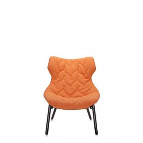 Fauteuil FOLIAGE de Kartell, Orange, Structure noir