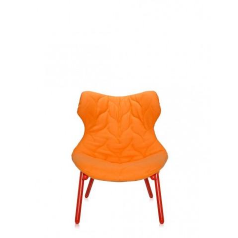 Fauteuil FOLIAGE de Kartell, Orange, Structure rouge